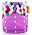 Fralda Ecológica Colorida Roxa Happy Flute - Imagem 1