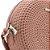 Bolsa Crossbody Rosa Redonda Texturizada - Imagem 2