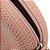 Bolsa Crossbody Rosa Redonda Texturizada - Imagem 3
