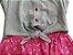 Vestido juvenil jeans estampa floral - Imagem 2