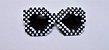 Óculos Fashionista Preto e Branco - Imagem 1