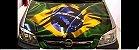 vinil sem laminação para adesivagem automotiva modelo bandeira do BRASIL FLAMADA tamanho 1,20 x 1,30  mts comprimento - Imagem 1
