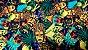 pelicula para pintura hidrografica modelo FARAOS - tamanho 1 mts de comprimento x 0,50 cmts de largura - Imagem 1
