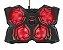 Base Gamer Yozu 4 Coolers Ajuste de Velocidade GXT 278 Led 20817 - Trust - Imagem 1