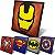 Quadro Alto Relevo Super Herois 20x20cm - Marvel - Dc - Game - Imagem 1