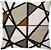 Capa Almofada Neo Moderna Riscos Terracota - Imagem 1