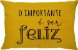 Capa Almofada Retangular Sorria Dupla Face Amarela - Imagem 6