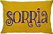 Capa Almofada Retangular Sorria Dupla Face Amarela - Imagem 2