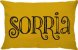 Capa Almofada Retangular Sorria Dupla Face Amarela - Imagem 1