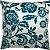 Capa Almofada Veludo Floral Tiffany e Cinza - Imagem 1