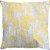 Capa Almofada Veludo Floral Amarelo e Cinza - Imagem 1