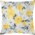 Capa Almofada Veludo Floral Amarela - Imagem 1