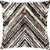Capa Almofada Veludo Chevron Max Marrom - Imagem 1