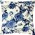 Capa Almofada Veludo Floral Azul Marinho - Imagem 1