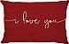Capa Almofada Retangular I Love You Vermelha - Imagem 1