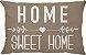 Capa Almofada Retangular Home Sweet Home - Bege - Imagem 1