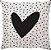 Capa Almofada Coração Pintas Preta - Imagem 1
