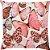 Capa Almofada Borboletas Glitter Rose Gold Intenso - Imagem 1