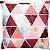 Capa Almofada Triâgulos Glitter Rose Gold Intenso - Imagem 1