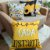 Kit 4 Capas Almofada Coração Amarelo - Imagem 1