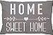 Capa Almofada Retangular Home Sweet Home - Cinza - Imagem 1