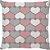 Capa Almofada Coração Rosa Cinza - Imagem 1