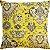 Capa Almofada Veludo Amarelo Florões Velfit - Imagem 1