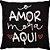 Capa Almofada O Amor Mora Aqui Preto - Imagem 1