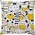 Capa Almofada Gato Coração Amarelo - Imagem 1