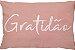 Capa Almofada Retangular Gratidão - Rosa - Imagem 1