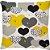 Capa Almofada Coração Amarelo - Imagem 1