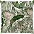 Capa Almofada Folhagem Verde e Rosa - Imagem 1