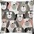 Capa Almofada Cachorros Rosa Cinza - Imagem 1