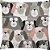 Capa Almofada Cachorros Rosa Cinza - Imagem 2