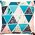 Capa Almofada Delta Glitter Aqua Intenso - Imagem 1
