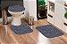 Jogo Banheiro Tapete Microfibra - Cinza Grafite - Imagem 1