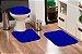 Jogo Banheiro Tapete Microfibra - Azul - Imagem 1