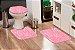 Jogo Banheiro Tapete Microfibra - Rosa - Imagem 1