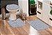 Jogo Banheiro Tapete Microfibra - Cinza Claro - Imagem 1