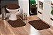 Jogo Banheiro Tapete Microfibra - Tabaco Marrom - Imagem 1
