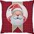 Capa Almofada Natal Papai Noel Xadrez - Imagem 1