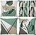 Kit 4 capas Boho Aquarela Verde - Imagem 1