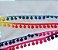 Saia Curta Envelope - Pompom Multicoloridos - Saida Praia - Verão  - Imagem 7