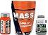 Combo Mass Premium 7.200 3w (1,5 kg) New Millen + BCAA TCM NUTRATA (90 Caps) + Creatina (120 caps) New Millen - Imagem 1