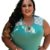 Blusa Plus Size Detalhe em Estampado Poá - Imagem 1