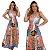 Vestido Longo 3 Marias Alça Larga Floral Rosa/Azul Ref. L2E - Imagem 3