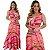 Vestido Longo Sereia Estampado Rosa Ref. L8E - Imagem 4