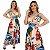 Vestido Mullet Envelope Decote V Estampado Rosa/Azul Ref. M4E - Imagem 4