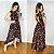 Vestido Mullet Sereia Decote nas Costas Floral  Preto/Vermelho Ref. M1L - Imagem 1