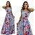 Vestido Longo de Alça Estampado Azul Floral Ref. L11E - Imagem 4